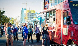 Promotional photo of Street Food Cinema food trucks.