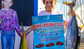 Photo of the Junior Winner of the 2015 Make-A-Wish Tuna Challenge.