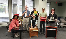 Promotional photo from the annual Toy Piano Festival in 2015.