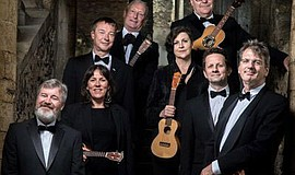 "Photo for the Ukulele Orchestra of Great Britain ""Holiday Show."" Courtesy of ..."