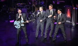 Under The Streetlamp performing at the McCallum Theatre in Palm Desert, Calif...