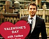Promotional graphic for the Valentine's Day event with Nathan Pacheco at the San Diego Symphony.