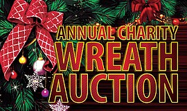Promotional graphic for the 13th Annual Charity Wreath Auction.