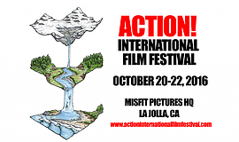 Promotional graphic for ACTION! International Film Festival.
