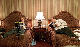 """Twin-brothers Donald, right, and Charlie Kaufman (both played by Nicolas Cag..."