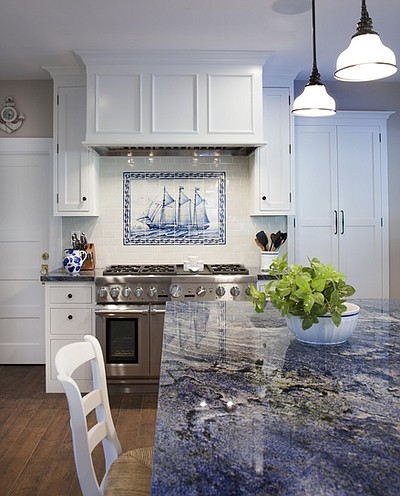 Promotional photo of the kitchen of a Coronado home, cour...