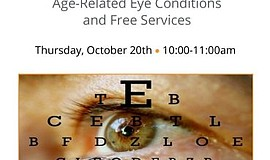 Promotional flyer for All About Eyes.