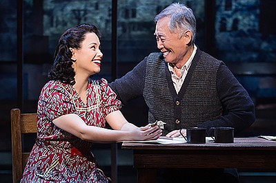 """A photo from """"Allegiance,"""" courtesy of Fathom Events."""