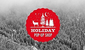 Promotional graphic for the Alpine Holiday Pop Up Shop.