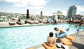 Promotional photo for the Andaz Rooftop pool. Courtesy of Rooftop600.