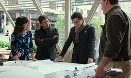 "Film still featuring Parker Posey, Eric McCormack and James Frain in ""The Arc..."