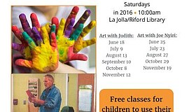 Promotional flyer for Art Classes For Kids.