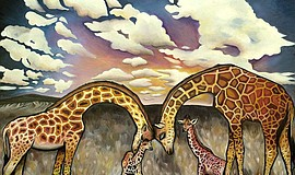 "Promotional artwork from the Sparks Gallery's ""Animalia"" exhibition. Courtesy..."