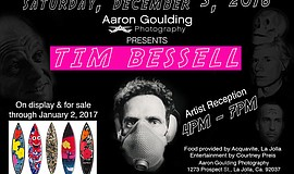 Promotional graphic for Aaron Goulding Photography's artist reception with Ti...