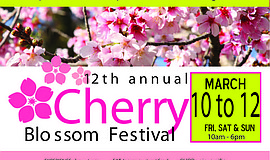 Promotional graphic for the Japanese Friendship Garden San Diego's Cherry Blo...