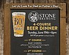 Promotional flyer for Father's Day Stone Beer Dinner At BO-beau.