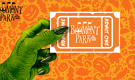Promotional graphic for Boomont Park Fall Festival And Haunt 2016.