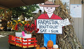 Promotional photo of the Fall Harvest Festival & Boutique sign.