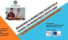 Promotional flyer for the Branding And Marketing Essentials And WordPress Boo...