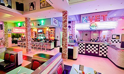 Promotional photo of Corvette Diner. Courtesy of Cohn Res...