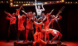 "A photo from the national touring production of ""Cabaret."""