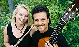 Promotional photo of Beth Ross Buckley and Fred Benedetti of Camarada.