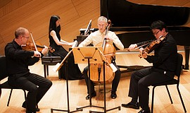 Promotional photo of the Camera Lucida ensemble.