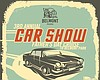 Promotional flyer outlining the events for Belmont Park's Third Annual Father's Day Car Show.