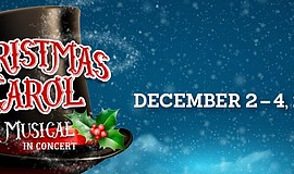 "Promotional graphic for Theatre School @ North Coast Rep's ""A Christmas Carol..."