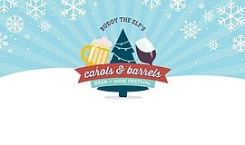Promotional graphic for Carols and Barrels.