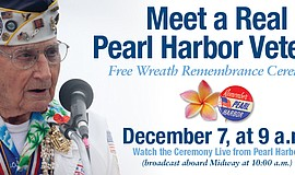 Promotional graphic for the USS Midway Museum's Pearl Harbor Remembrance Cere...