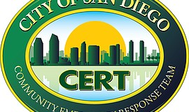 Promotional graphic for CERT San Diego.