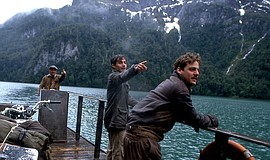 "Film still of ""The Motorcycle Diaries"" (2004) featuring Rodrigo De la Serna a..."