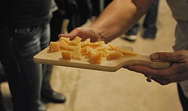 Promotional photo of artisan cheese samples at Liberty Station. Courtesy of B...