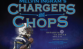 Promotional photo of Melvin Ingram's Chargers and Chops event, featuring Melv...