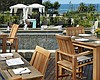 Promotional photo of the Coastline Restaurant outdoor seating. Courtesy of L'Auberge Del Mar.
