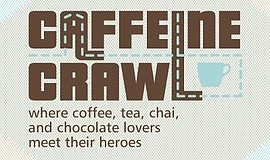 Promotional graphic for Caffeine Crawl.