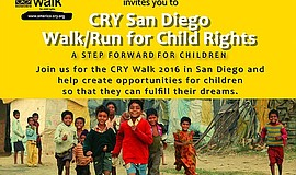 Promotional graphic for the Walk/Run For Child Rights At 4S Ranch.