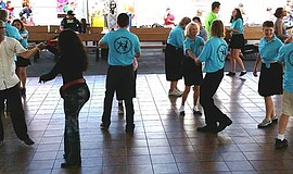 Participants dance at Academy of World Dance - San Diego Studio.