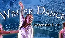 Promotional graphic for Palomar College's Winter Dance. The performances run ...