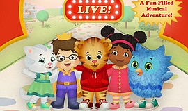 Promotional graphic for Daniel Tiger's Neighborhood Live!