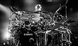 Promotional photo of the Dave Matthews Band drummer, Carter Beauford, perform...