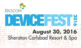 Promotional graphic for Biocom DeviceFest. This year's festival will take pla...