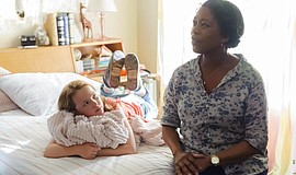 "Film still featuring Talitha Bateman and Alfre Woodard in ""So B. It."""