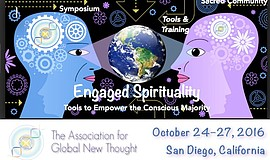 "Promotional flier for The Unity Center San Diego's ""Engaged Spirituality."""