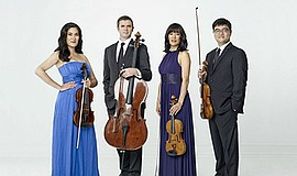A promotional photo of the Ensō String Quartet, courtesy of UC San Diego.