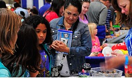 Participants at the STEAM Maker Festival.