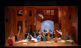 "A photo of a scene from ""Falstaff,"" by Robert Kusel/Lyric Opera of Chicago."