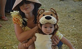 Photo of families participating in the 2015 costume contest, courtesy of Bate...
