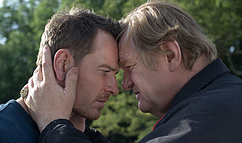 "Film still featuring Michael Fassbender and Brendan Gleeson in ""Trespass Agai..."